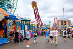 The Luna Park amusement park at Coney Island  in New York Royalty Free Stock Image