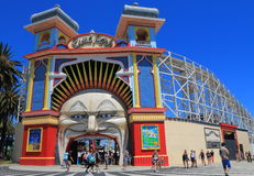 Luna park amusement park Melbourne Australia Stock Photos
