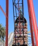 Luna park amusement park Melbourne Australia. People visit Luna Park amusement park Stock Images