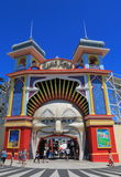 Luna park amusement park Melbourne Australia Stock Photo
