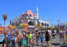 Luna park amusement park Melbourne Australia. People visit Luna Park amusement park Royalty Free Stock Images