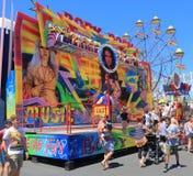 Luna park amusement park Melbourne Australia. People visit Luna Park amusement park Royalty Free Stock Photography