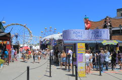 Luna park amusement park Melbourne Australia. People visit Luna Park amusement park Stock Photo