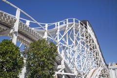 Luna Park Amusement Park Ride - Melbourne. Melbourne, Australia: March 18, 2017: Tourists enjoy the ride at the funfair in Melbourne`s Luna Park. The historic Stock Photography