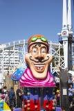 Luna Park Amusement Park Ride - Melbourne. Melbourne, Australia: March 18, 2017: Carousel ride at the funfair in Melbourne`s Luna Park. The historic amusement Stock Photography