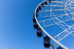 Luna park attraction wheel. Close up Royalty Free Stock Photos