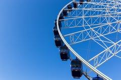 Luna park attraction wheel. Close up Royalty Free Stock Photos