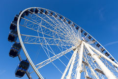 Luna park attraction wheel. Close up Stock Photography