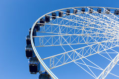 Luna park attraction wheel. Close up Stock Image