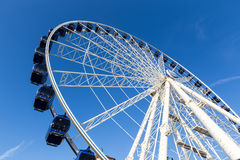 Luna park attraction wheel. Close up Stock Photos