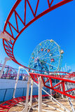 Luna Park in Coney Island, NYC. New York City, USA - October 11, 2015: Luna Park. Its an amusement park in Coney Island opened on May 29, 2010 at the former site royalty free stock photo