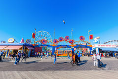 Luna Park in Coney Island, NYC. New York City, USA - October 11, 2015: Luna Park. Its an amusement park in Coney Island opened on May 29, 2010 at the former site royalty free stock image