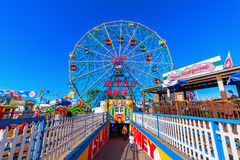 Luna Park in Coney Island, NYC. New York City, USA - October 11, 2015: Luna Park. Its an amusement park in Coney Island opened on May 29, 2010 at the former site royalty free stock photography