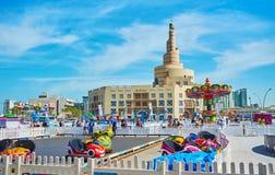 Luna Park dans vieux Doha, Qatar Photos libres de droits