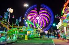 Luna Park de Génova, el parque de atracciones móvil más grande de Europa, Italia fotos de archivo