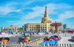 Luna Park en Doha viejo, Qatar Fotos de archivo libres de regalías