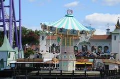Luna Park en la playa en Estocolmo Imagen de archivo