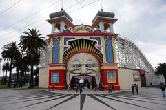 At the Luna Park Royalty Free Stock Photos