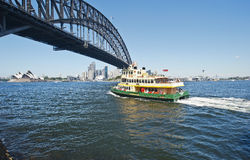 Luna Park ferry heading to the city Stock Images