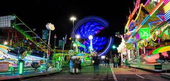 Luna park of Genoa, the largest mobile amusement park in Europe, Italy. royalty free stock photo