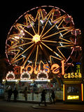 Luna park in italy. An attraction in the promenade of Viareggio during its famous Carnival Royalty Free Stock Photos