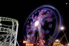 Luna Park lights. Luna Park moving lights on black night background Stock Images
