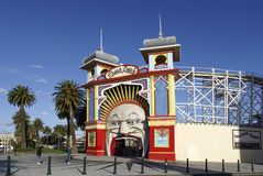 Luna Park Melbourne Lizenzfreie Stockbilder