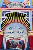Luna Park, Melbourne. Entrance to Luna Park, Melbourne, Australia Stock Photo