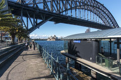 Luna Park Milsons Point. The ferry quay at Milsons Point with the Opera house in the background. Copyspace stock images