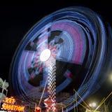 Luna Park moving lights background Stock Image