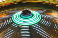 Luna Park moving lights background Stock Photo