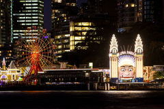 Luna Park at Night Royalty Free Stock Photography