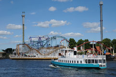 Luna park at the seaside in Stockholm Royalty Free Stock Photos