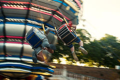 Luna park, swing carousel Stock Photo