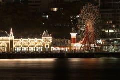 Luna Park Sydney bij Nacht Royalty-vrije Stock Afbeeldingen