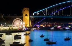 Luna Park and Sydney Harbour Bridge Stock Photography