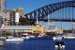 Luna Park and The Sydney Harbour Bridge Royalty Free Stock Photos