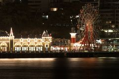 Luna Park Sydney nachts Lizenzfreie Stockbilder
