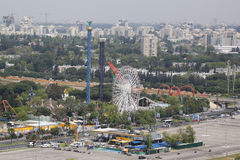 Luna Park in Tel Aviv Stockfotos