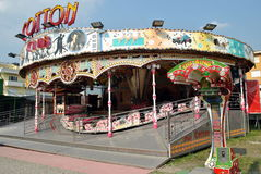 Luna park to Como in Italy stock photography