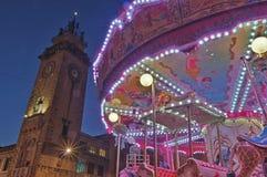 Luna Park und Turmhintergrund Lizenzfreie Stockfotografie
