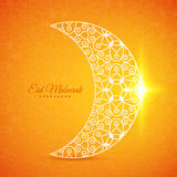Luna per il festival di comunità musulmano Eid Mubarak Fotografia Stock Libera da Diritti
