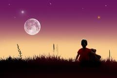 Luna piena immagine stock