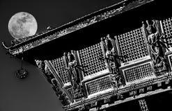 Luna piena che costruisce il Nepal Immagine Stock Libera da Diritti
