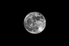 Luna piena come telescopio visto attraverso Fotografia Stock