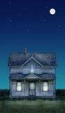 Luna piena della vecchia fattoria e st Fotografie Stock