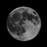Luna piena di alta risoluzione Immagini Stock Libere da Diritti