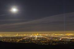 Luna piena di Las Vegas Fotografia Stock
