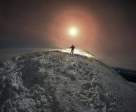 Luna piena fantastica Fotografie Stock Libere da Diritti