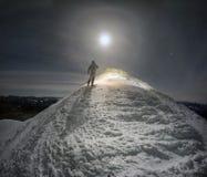 Luna piena fantastica Fotografia Stock Libera da Diritti